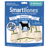 SmartBones Dental Chews Chicken MED 4 pk