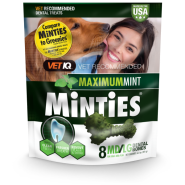 Minties Maximum Mint Dental Bones MD/LG 6.4 oz 8 ct