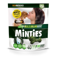 Minties Maximum Mint Dental Bones TNY/SM 16 oz 40 ct