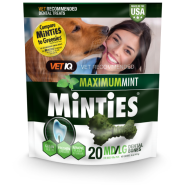 Minties Maximum Mint Dental Bones MD/LG 16 oz 20 ct