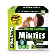 Minties Maximum Mint Dental Bones TNY/SM 32 oz 80 ct