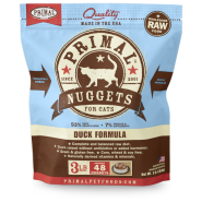 Primal Cat Raw Duck Nuggets 3 lb