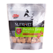 Nutri-Vet Breath & Tartar Biscuits Chicken 19.5 oz