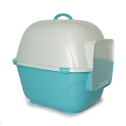 Gardner Cat Litter Pan w/Hood & Door Blue SM 19.5x16.3x16""