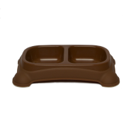 Gardner Double Feeder Bowl Brown SM