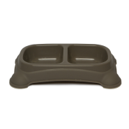 Gardner Double Feeder Bowl Taupe SM