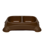 Gardner Double Feeder Bowl Brown MED