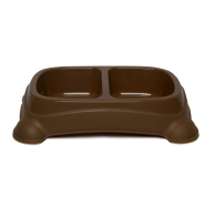 Gardner Double Feeder Bowl Brown LG