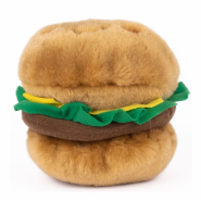 ZippyPaws NomNomz Squeaker Toy Hamburger