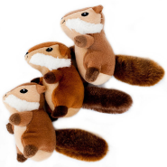 ZippyPaws Miniz Chipmunks 3 pc