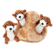 ZippyPaws Burrow Squeaker Toy Meerkat Den
