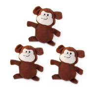 ZippyPaws Miniz Monkeys 3 pc