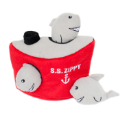 ZippyPaws Burrow Squeaker Toy Shark n Ship