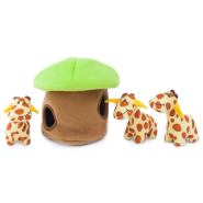 ZippyPaws Burrow Squeaker Toy Giraffe Lodge