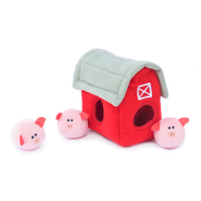 ZippyPaws Burrow Squeaker Toy Pig Barn