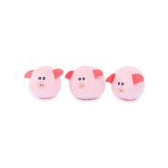ZippyPaws Miniz Bubble Pigs 3 pc