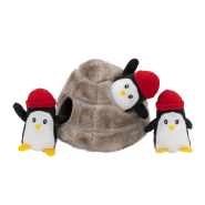ZippyPaws Burrow Squeaker Toy Penguin Cave