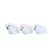 ZippyPaws Miniz Polar Bears 3 pc