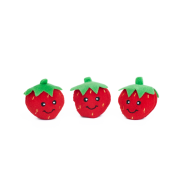 ZippyPaws Miniz Strawberries 3 pc