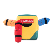 ZippyPaws Burrow Squeaker Toy Crayon Box