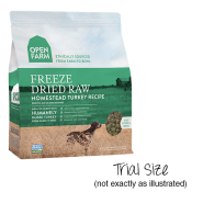 Open Farm Dog Freeze Dried Raw Turkey Trials 10/10 gm