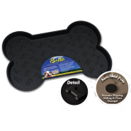 Bella Spill Proof Dog Mats Small Black