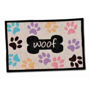 Bella Fashion Mats Woof w/ Multi Paws