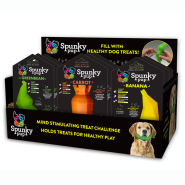 Spunky Pup Fruits & Veggies Treat Holding Toy Display 12 ct