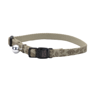 New Earth Soy Breakaway Cat Collar Olive & Leaves 8-12""