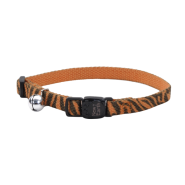 New Earth Soy Breakaway Cat Collar Orange & Stripe 8-12""