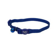 SafeCat Adj Nyl Bkwy Collar Blue 12""