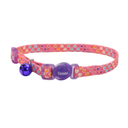 Safe Cat Breakaway Collar Multi Heart 3/8x12""