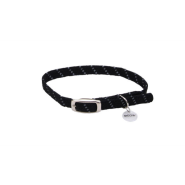 Elasta Cat Refl Safety Stretch Collar Black 10""