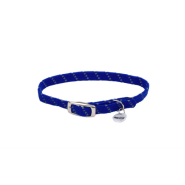 Elasta Cat Refl Safety Stretch Collar Blue 10""