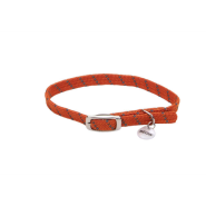 Elasta Cat Refl Safety Stretch Collar Orange 10""