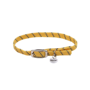 Elasta Cat Refl Safety Stretch Collar Yellow 10""