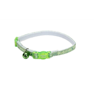 "SafeCat Adj Bkwy ""Super Star"" Cat Collar 12"" Green"
